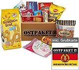 """Ostpaket """"Süße Verführung klein"""" mit 12 typischen Produkten der DDR inkl. Grußkarte """"Ostalgische Grüße"""" gratis, Geschenkset Ostprodukte DDR Geschenkidee"""