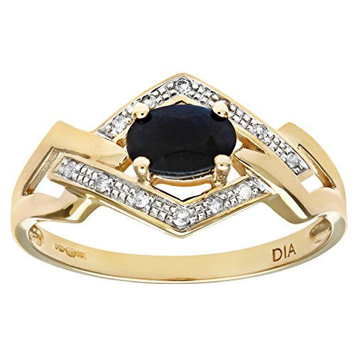 naava-womens-9-ct-yellow-gold-fancy-diamond-and-sapphire-ring