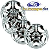 Set of Four Chrome Replica 2006 - 2008 15 inch Chevrolet Malibu Hubcaps