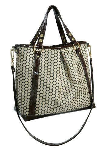 Mia Bossi Lyndsey Diaper Bag, White Cocoa front-963701