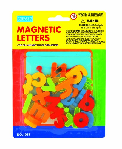megcos Magnetic Lowercase Letters in a Blister Card, 36-Piece - 1