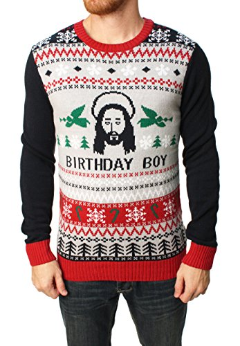Ugly Christmas Sweater Jesus Bday