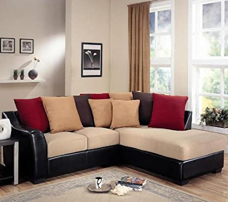 SECTIONAL,DARK BROWN/F 95'Lx83''Wx37''H