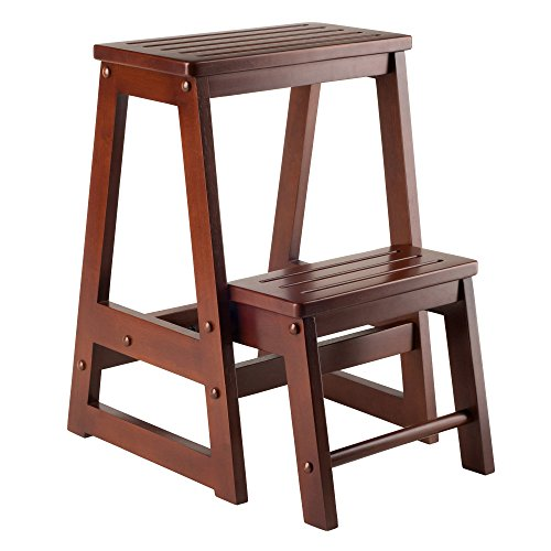 Winsome Wood Step Stool, Antique Walnut