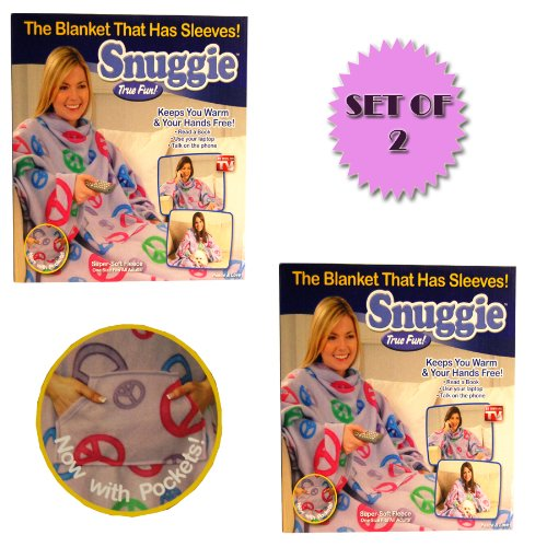 Snuggie Peace And Love - New For 2010 (Set Of 2)