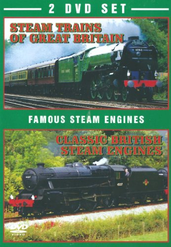 Famous Steam Engines 2 DVD Set - Steam Trains of Great Britain & Classic British Steam Engines