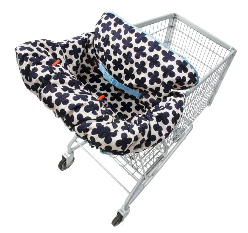 Infantino Lil' Fluff Cart & Highchair Cover Blue/White front-981179