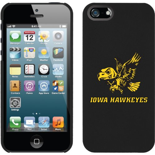 Best Price Iowa - flying Hawkeyes design on a Black iPhone 5s / 5 Thinshield Snap-On Case by Coveroo