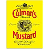 Colmans Mustard Metal Sign: Kitchen Decor Wall Accent
