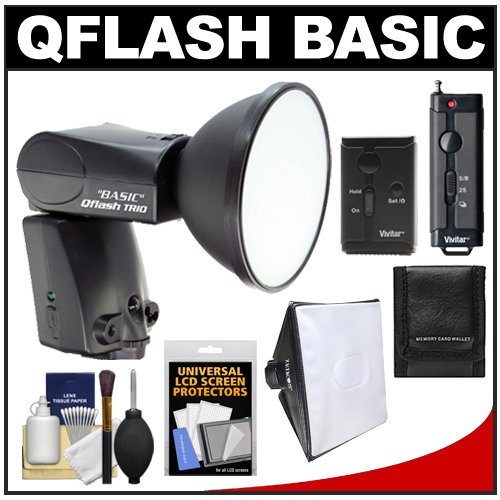 =>>  Quantum Qflash Trio Basic Model QF8CB Flash (for Canon) with Softbox + Wireless Remote + Kit for Digital SLR Cameras