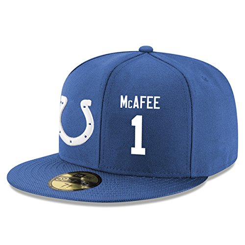 indianapolis-colts-1-pat-mcafee-hats-unisex-snapback-baseball-cap-blue-2-one-size