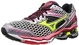 Mizuno Womens Wave Creation 17 Running Shoe, Silver/Yellow,7 B US
