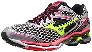 Mizuno Women's Wave Creation 17 Running Shoe, Silver/Yellow,7 B US