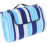 Songmics® 195 x 150 cm Wasserdichte Picknickdecke Campingdecke Stranddecke Mit Tragegriff (Farben auswählbar) GCM60L