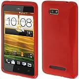 EGO� Back Case f�r HTC One SV Blau Silikon Back Cover Case Tasche Schutzh�lle Bumper Back Handy Etui