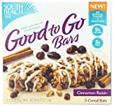 South Beach Diet  Protein Fit 5 Cereal Bars, Cinnamon Raisin,1.23 Oz Bars  5-Count (Pack of 8)