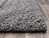 Super Area Rugs-Cozy Collection-Plush Gray Shag Rug, 6-Feet 7-Inch by 9-Feet