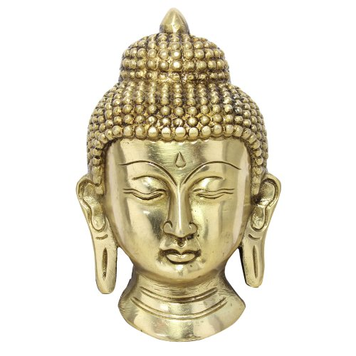 wand h ngen buddhismus dekorative statue buddha kopf messing skulptur. Black Bedroom Furniture Sets. Home Design Ideas