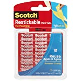 Scotch Restickable Tabs, 0.5 Inch squares, 72 Tabs (R103)