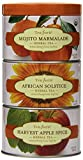Tea Forte LOOSE LEAF TEA TRIO, 3 Small Tea Tins, Herbal Tea Sampler - Mojito Marmalade, African Solstice, Harvest Apple Spice