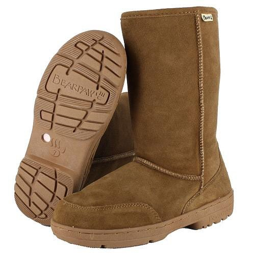 BEARPAW Women's Meadow Boot,Hickory/Champagne,6 M US
