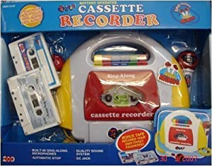 Kids Cassette Recorder with 2 Microphones