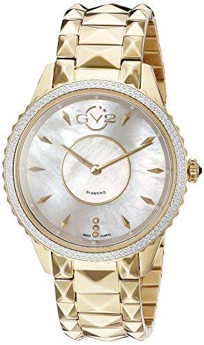 GV2by Gevril 1702de la mujer 'Carrara' Casual de acero inoxidable reloj de cuarzo suizo