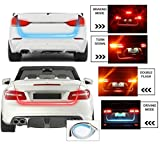 #2: Motoway Tail Lights Streamer Brake Turn Signal LED Lamp Strip Waterproof For Honda Mobilio(Red and Blue)