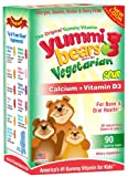 Yummi Bears Calcium + Vitamin D3, Vegetarian, 90 Sour Gummy Bears