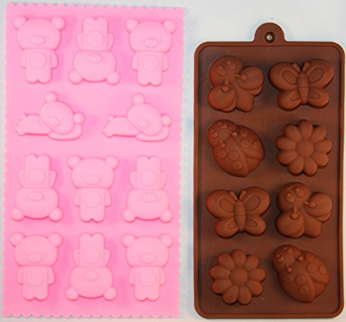 Silicone Candy Mold {Set Of 2}, Bear + Butterfly