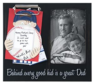 Malden Memory Clip Black Wood Picture Frame, Great Dad