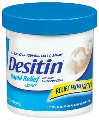 Desitin Zinc Oxide Diaper Rash Rapid Relief Cream, 16 Ounce -- 12 Per Case. front-772687