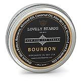 Lovely Beards Natural Beard Balm Leave-In Conditioner & Softener, Handmade In The USA, On Social Media, Best for Groomed Beard Growth, Mustache & Face, Bourbon Scent