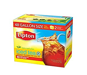Lipton Black Iced Tea Bags, Gallon Size 48 ct : Black Teas by Lipton