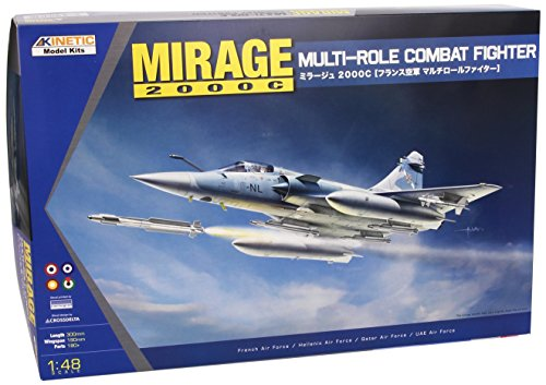 KINETIC Modellino Aereo Mirage 2000C Multi-role Combat Fighter Scala 1:48