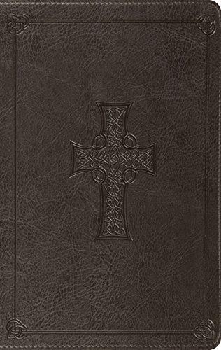 ESV Value Thinline Bible (TruTone, Charcoal, Celtic Cross Design)