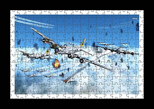 Jigsaw 204 pieces Puzzle with Frame - Boeing B 17 Flying Fortress by Lisa Loft
