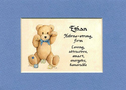 Personalized Baby Name Ethan Nursery Wall Decor Keepsake Gift Made In The Usa