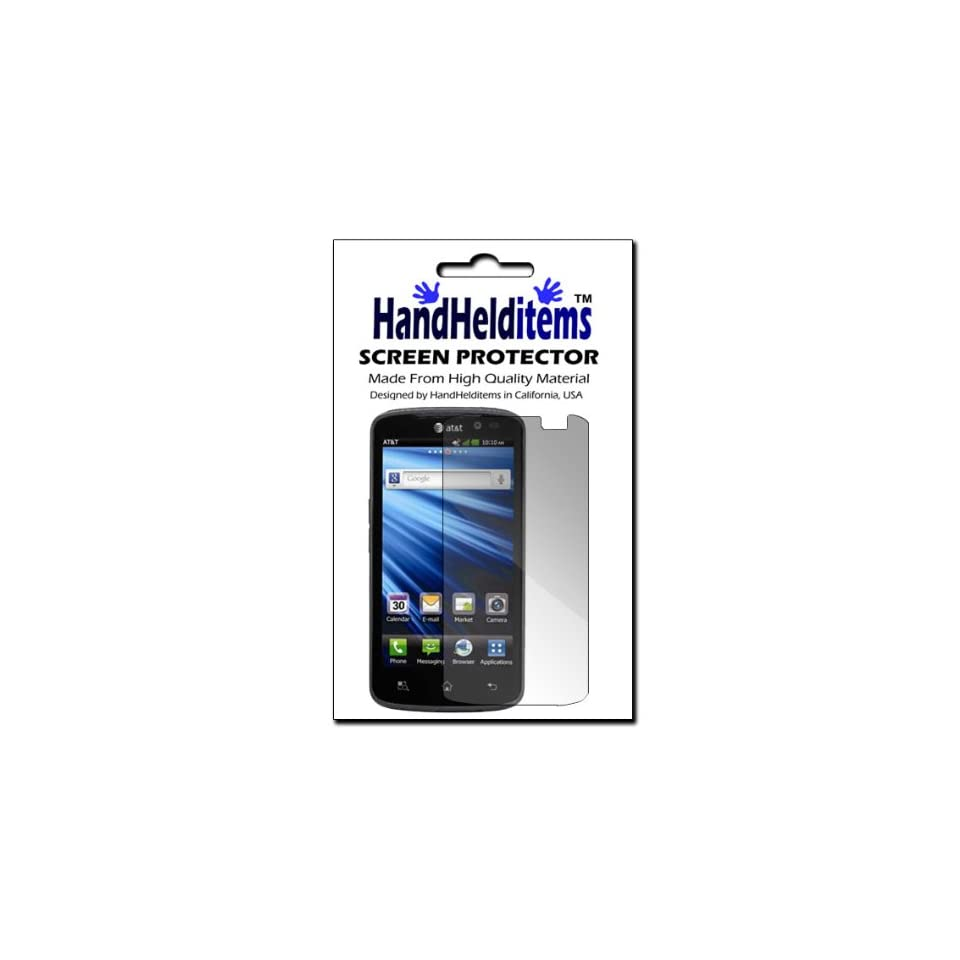 HHI LG P930 Nitro HD Anti Fingerprint, Anti Glare, Matte Finished Screen Protector (Package include a HandHelditems Sketch Stylus Pen)