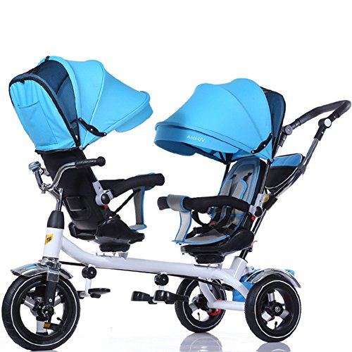 OLizee-Baby-Kids-Toddler-Twins-Double-Seats-Tricycle-Stroller-Ride-On-Trike