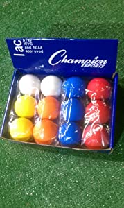 Assorted Color NCAA NFHS Lacrosse Balls by Champion