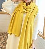 (ナインスコード) 9thCode ストール マフラー 大判 レディース メンズ 結婚式 ひざ掛け 柔らか素材 マスタードイエロー フリーサイズ