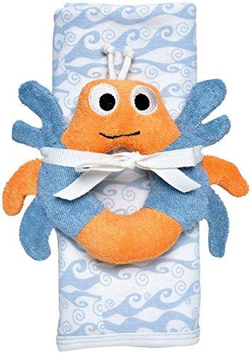 Under the Nile Stroller Blanket   Crab Toy Gift Set - Blue - 1