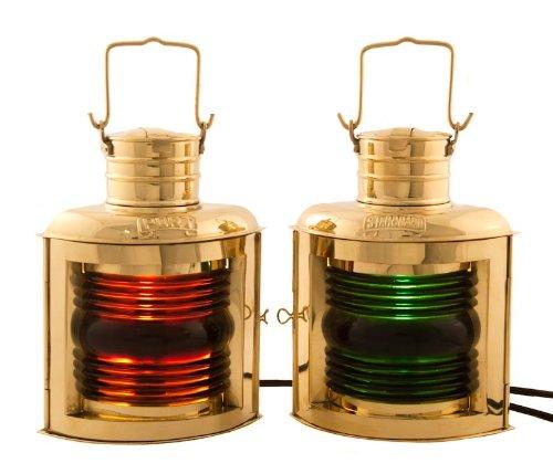 Nautical Lighting Ship Lantern Brass Port & Starboard 12