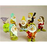 Disney Snow White and the Seven Dwarfs Cute Figure Standing Doll Toy Set