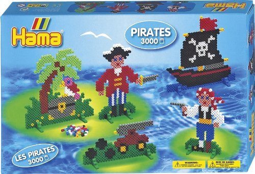 Create Fun And Colorful Designs With Hama Fuse Beads - Hama / Pirate Fuse Beads Gift Set