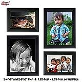 Ajanta Royal Classic set of 4 Individual Photo Frames (2-4x6, & 2-6x8 Inch) - WPC-09