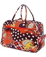 Belvah Quilted Floral Paisley Weekender Duffel Bag