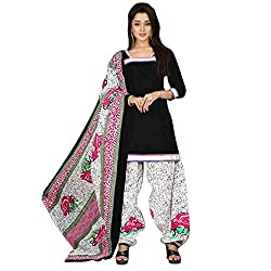 Pulp Mango's Patiala Style Pure Cotton Top, Pure Cotton Bottom and Pure Cotton Dupatta, Printed Dress Materials