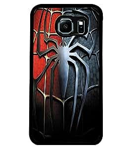 ColourCraft Spider Design Back Case Cover for SAMSUNG GALAXY S6 EDGE